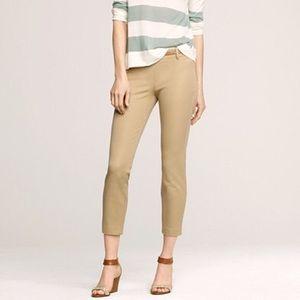 J. Crew Minnie Khaki Cropped Pants